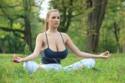 I'd meditate with her...