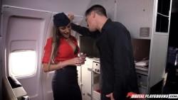 Air hostess August Ames