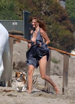 Mischa Barton experiencing an embarrassing wardrobe malfunction