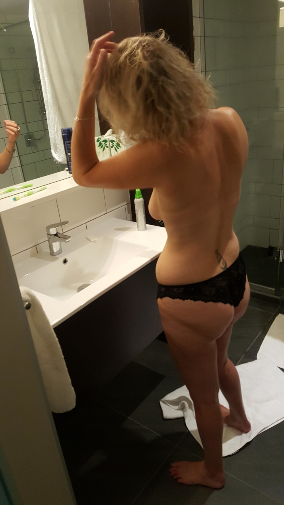 """My 40yr old Milf - Getting her hair... """"just right""""... [OC]"""