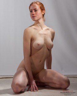 Natural redhead nude model Becca