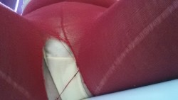 Oopsie! Looks like my red tights have seen better days...