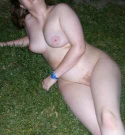 Out on the grass
