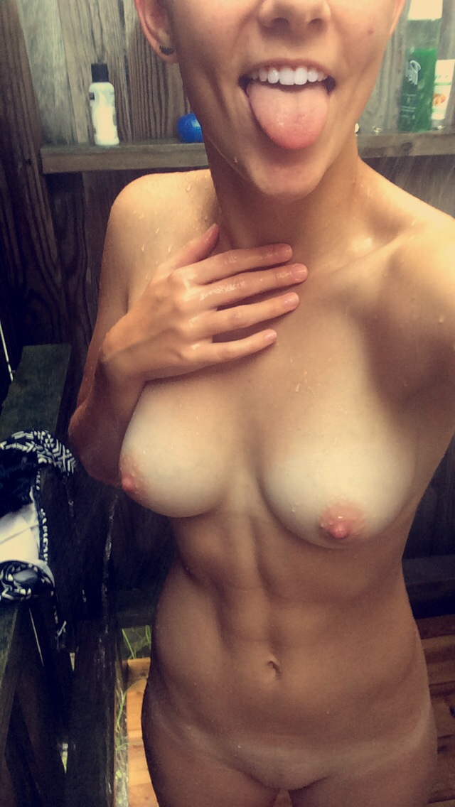 outdoor shower women naked