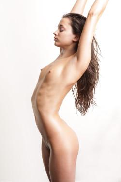 Petite brunette body