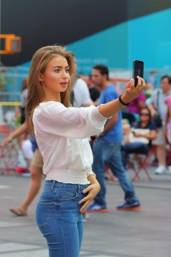 Selfie in the street