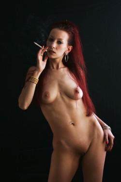 Sexy Pierced Redhead