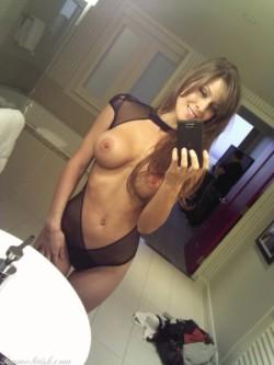 Sexy cougar selfie