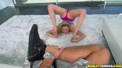 Mia Malkova Shows Off Her Flexibility