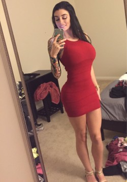 Slimming Red Dress