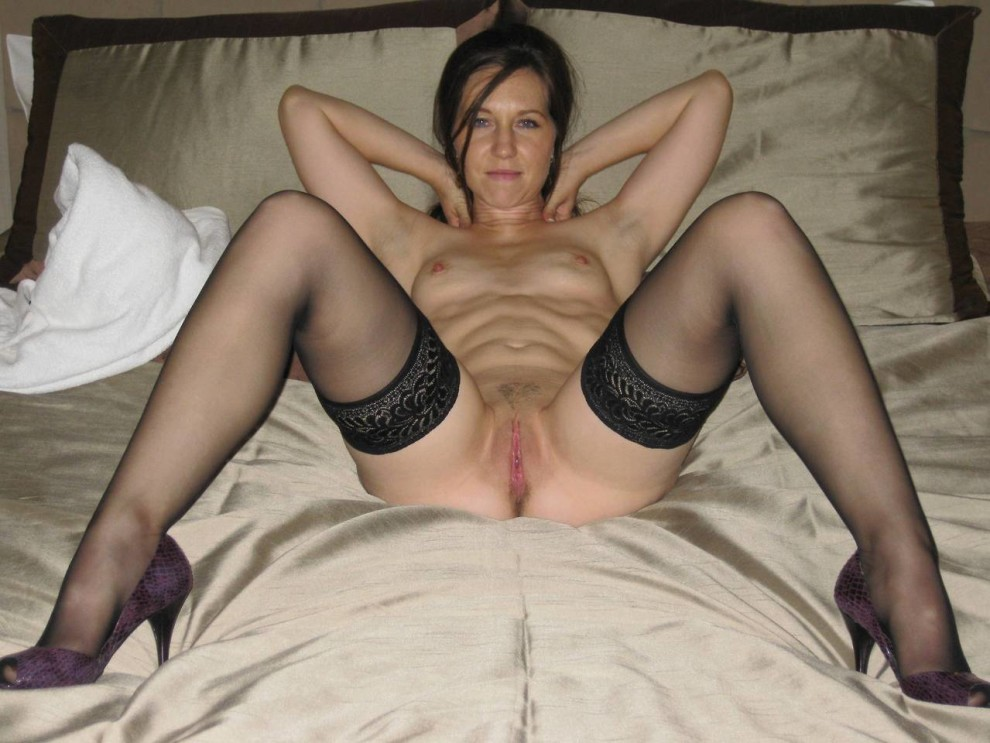 a hot spread and stockings……..wank