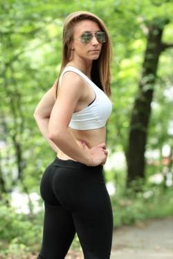 black pants coed booty