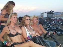 At a biker rally