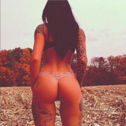 Beautiful ass in fall
