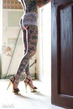 Beautiful tattooed legs