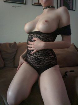 Black lace bodysuit [f]