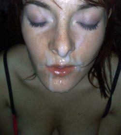 Creamy red lips