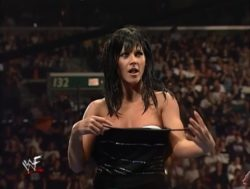 The Kat/Stacy Carter's classic character development at the WWE Armageddon PPV in 1999