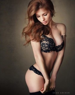 Ginger in Black Lace