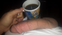 Hot black coffee and a big white dick. Good (m)orning!