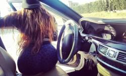In a car