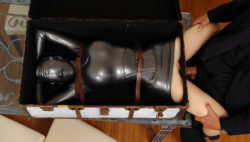 Latex suit with a hit of bdsm