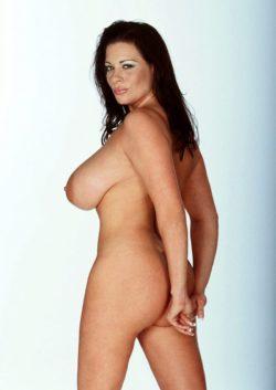 Linsey Dawn Mckenzie hiding her bum
