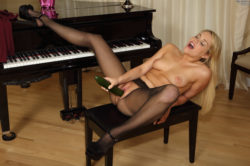 Mia Malkova getting it on with her cucumber