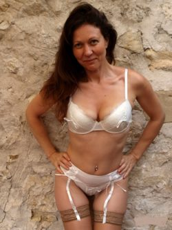Milf in a garter belt