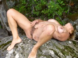 Natural mature wife in nature