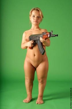 Nude Midget With Machine Gun