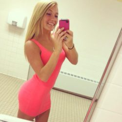 Selfie In A Pink Dress