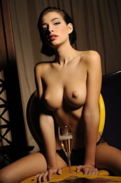 Sexy with champagne