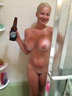 She Loves A Shower Beer!