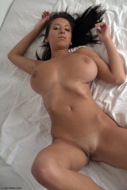 Slender Jana Defi and her huge boobs