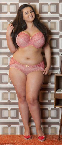 Sophia Adams in pink underwear