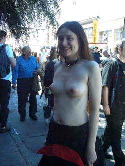 Topless on the street [IMG]
