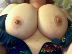 View of my big boobs from above me