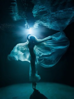 When the moon shines through water then the dress and makes it transparent.
