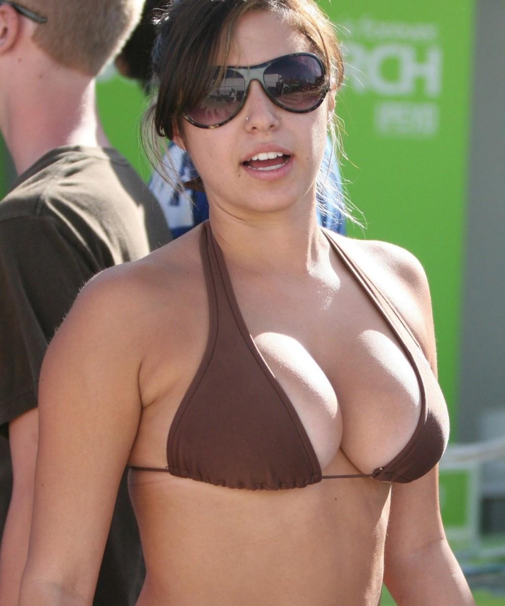big-boobed brown bikini