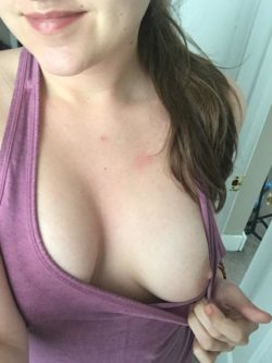 going braless today :) (f)