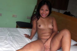 Thick-assed lil Asian screwed and facialed by means of white man