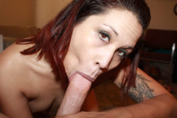 Filipina-American deep-throats and vagina copulates a white manstick