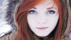 pale girl in parka