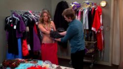 Kaley Cuoco's plot in a changing room