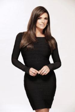 Bárbara Bermudo - Black bandage dress