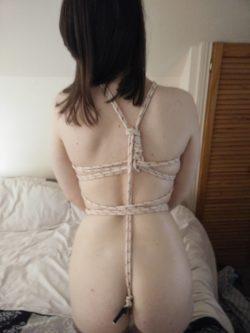 Bondage tie with my girlfriend
