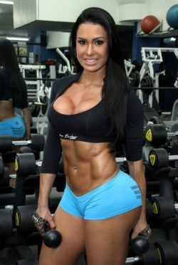 Brazilian fitness model at GYM