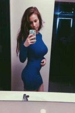 Busty in blue