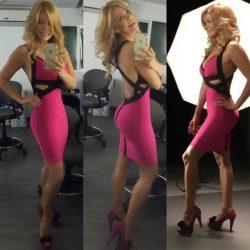 Cecy Gutiérrez - Pink bandage dress